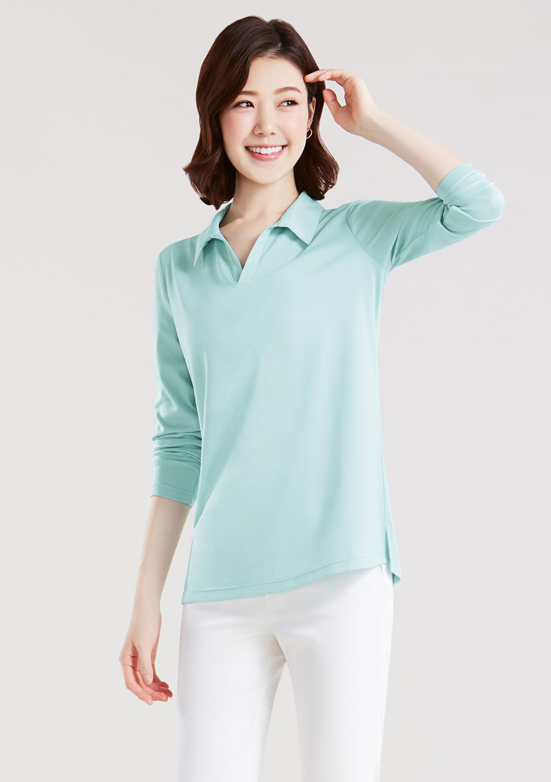 抗UV吸排長袖polo衫