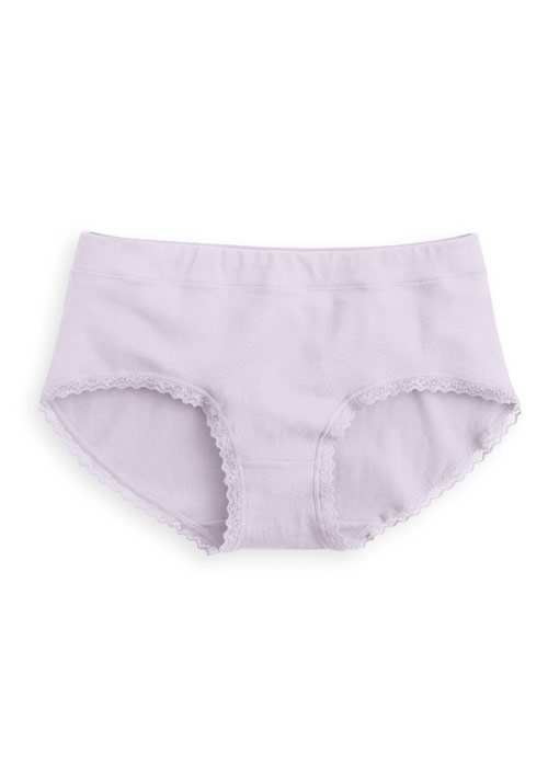 純棉蕾絲中腰內褲