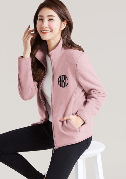 【限時$199】字母電繡Fleece保暖外套