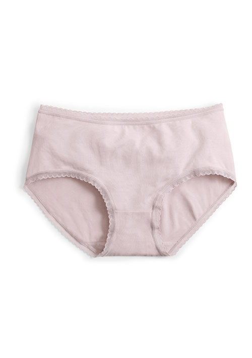 棉質花邊中腰內褲
