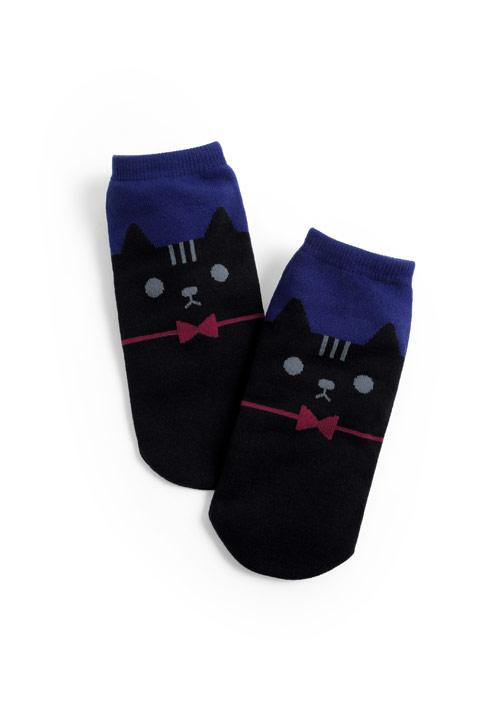 蝴蝶結貓咪短襪