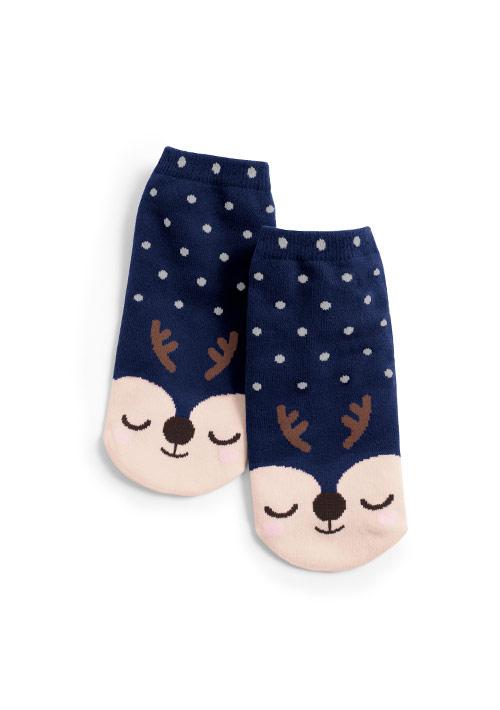 麋鹿點點短襪