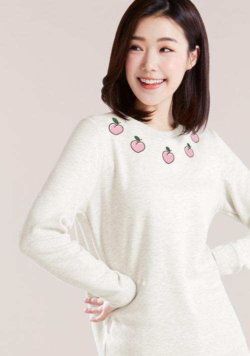 水蜜桃刷毛T恤