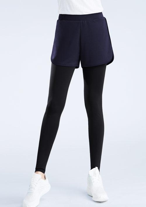 抗UV吸排假兩件運動長褲