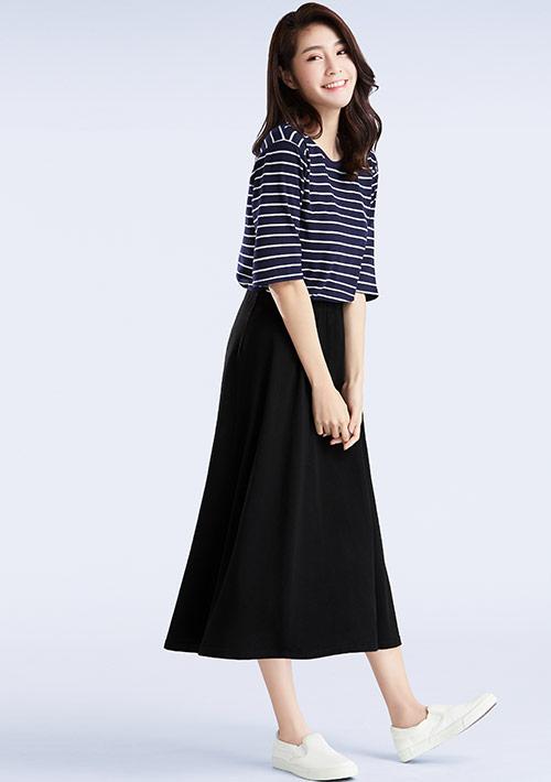 特級四面彈性條紋裙裝套組