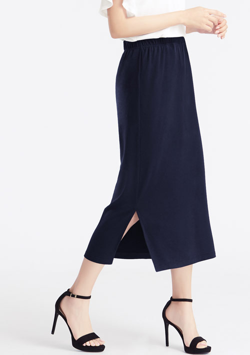 特級四面彈性合身長裙