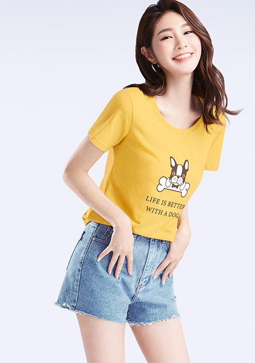 【限時$120】法鬥犬純棉印花T恤