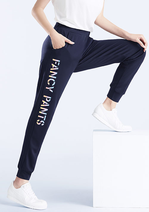 Fancy印花抗UV吸排束口長褲