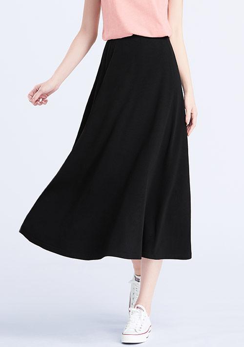 特級四面彈性寬擺長裙