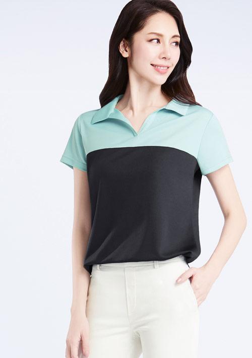 抗UV吸排配色polo衫