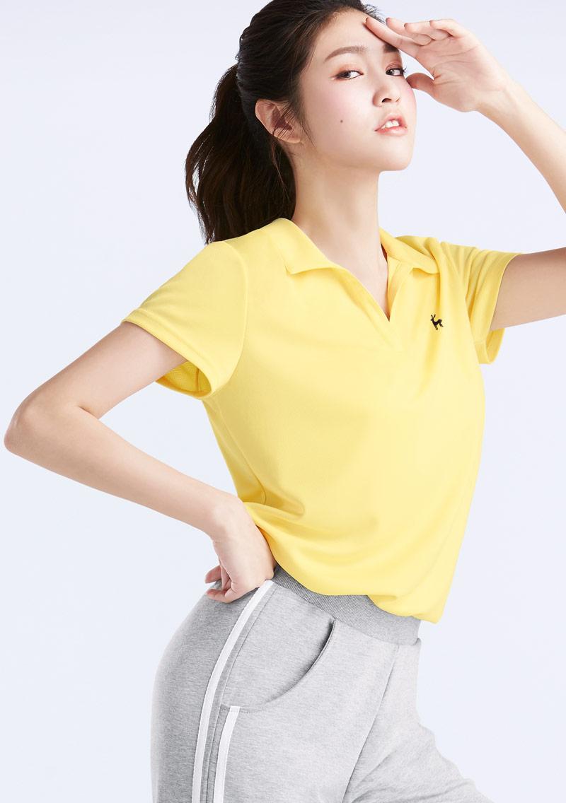 【周末限定$188】抗UV吸排小鹿印花polo衫