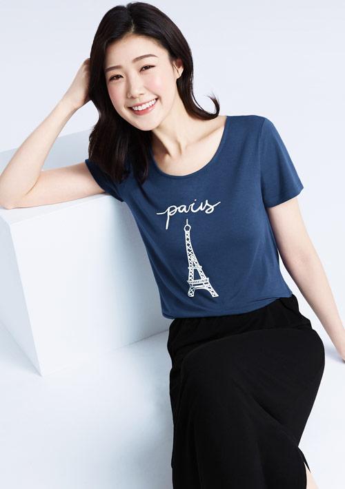 【限三天$299】特級四面彈性Paris印花裙裝套組