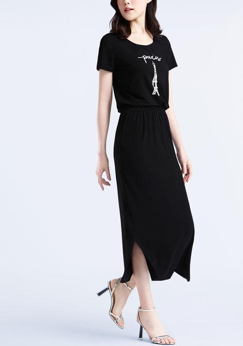 特級四面彈性Paris印花裙裝套組