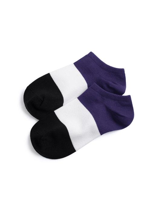 涼感配色短襪