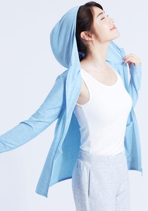 抗UV吸排涼感連帽外套