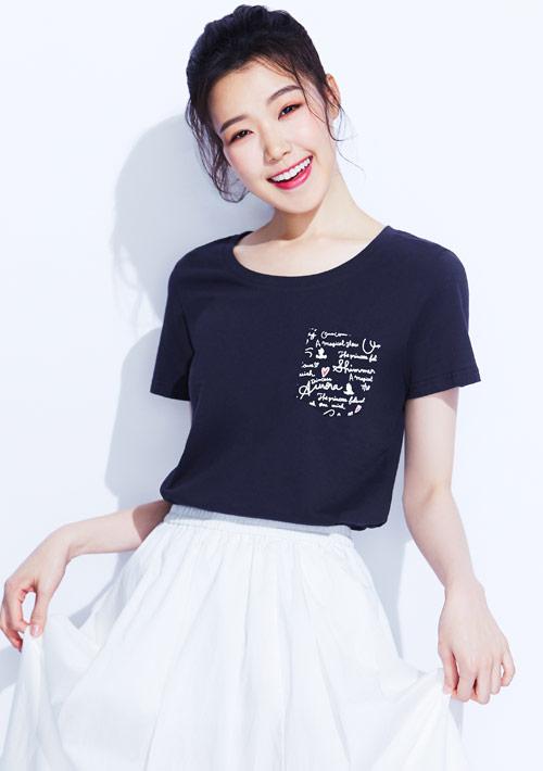 迪士尼公主系列純棉印花T恤-02