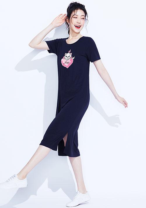 迪士尼Marie系列特級四面彈性印花洋裝-01
