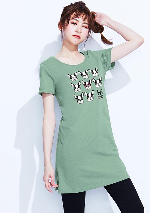 【限三天$168】狗狗純棉長版印花T恤
