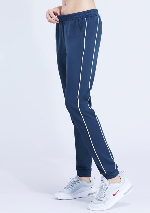 抗UV吸排配色條紋束口長褲