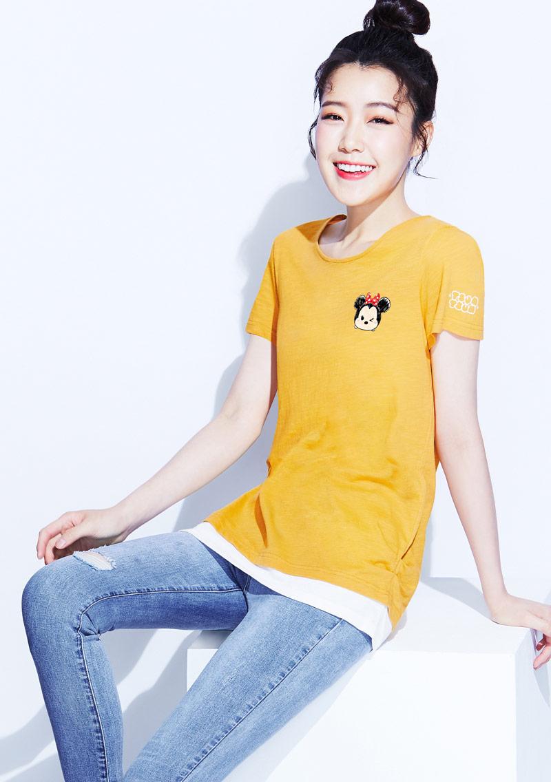 Tsum Tsum系列竹節棉印花T恤-03