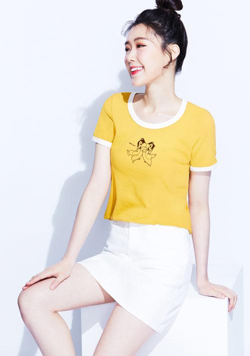 迪士尼奇奇蒂蒂系列純棉印花T恤-03