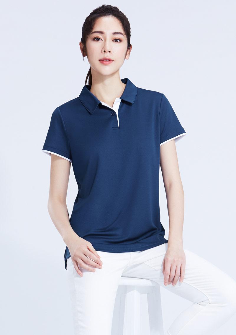 抗UV吸排拼色polo衫