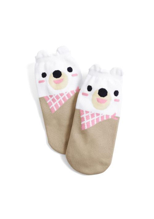 領巾熊熊涼感短襪
