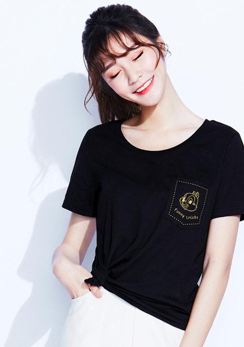迪士尼奇奇蒂蒂系列純棉印花T恤-02