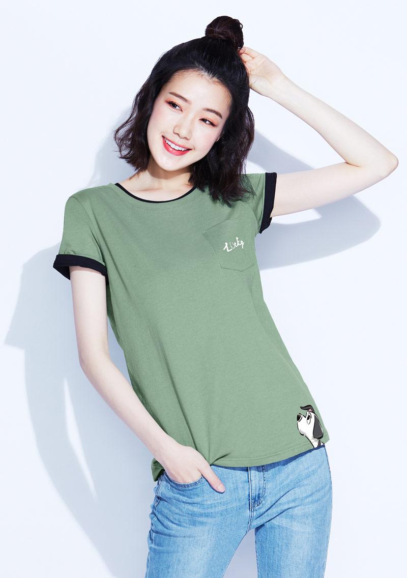 迪士尼101系列純棉印花T恤-01