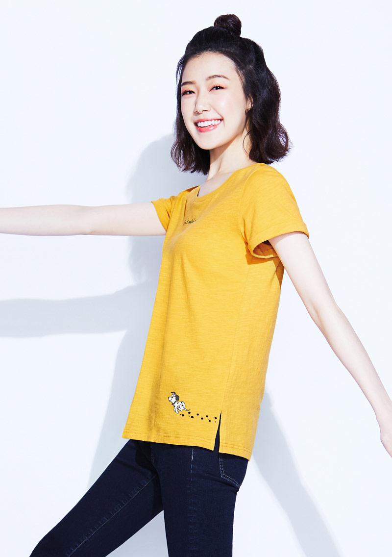 迪士尼101系列竹節棉印花T恤-01
