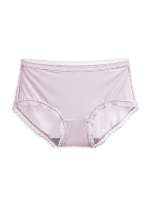 抗菌蕾絲中腰內褲