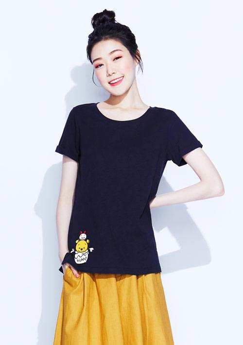 【限時$150】Tsum Tsum系列竹節棉印花T恤-05