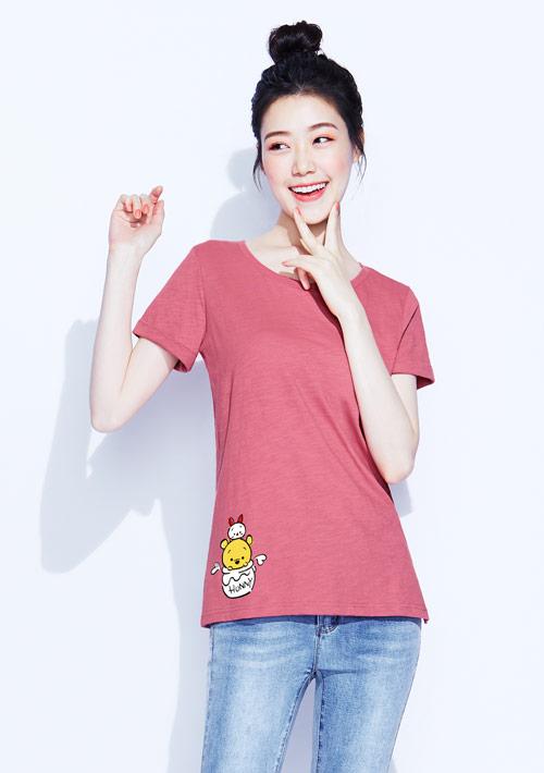 Tsum Tsum系列竹節棉印花T恤-05
