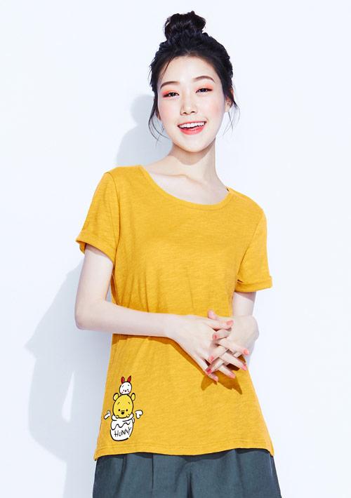 【限時$99】Tsum Tsum系列竹節棉印花T恤-05