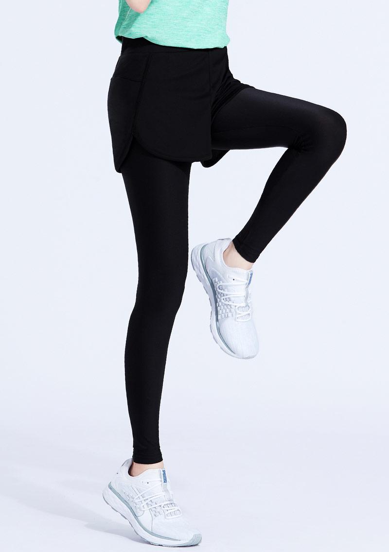 特級彈性吸排涼感假兩件長褲