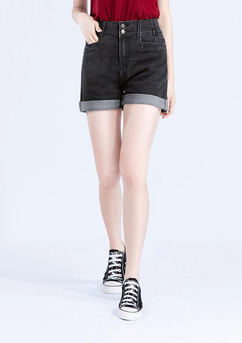 激瘦收腹牛仔短褲