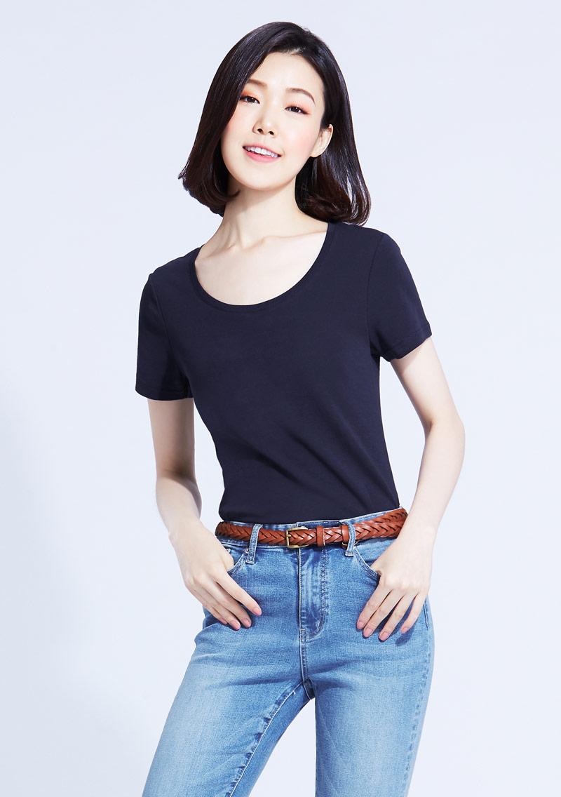 特級棉羅紋圓領T恤