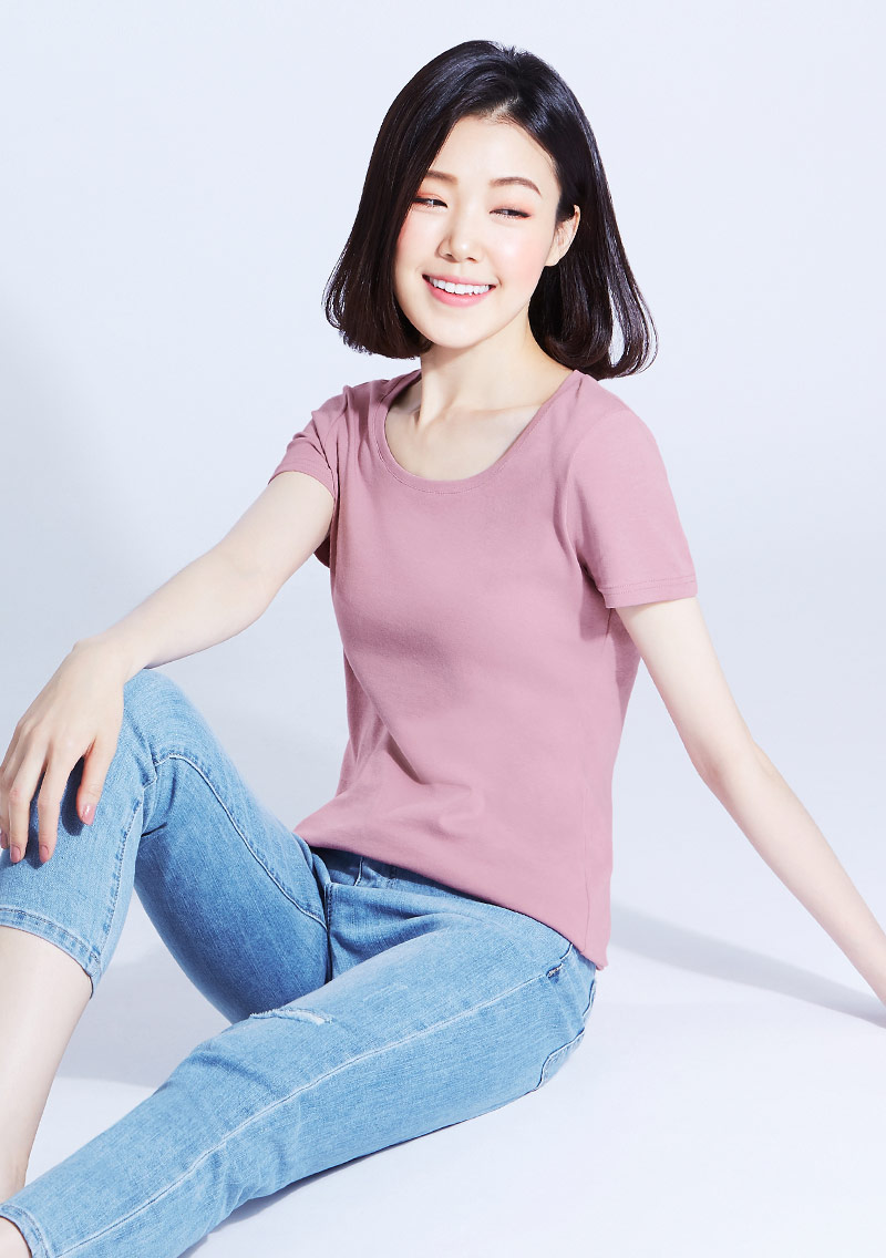 Combed 棉羅紋圓領T恤