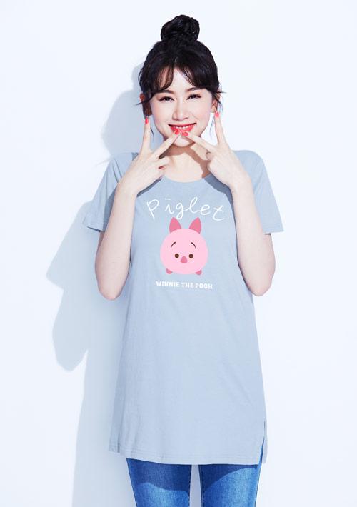 Tsum Tsum系列純棉長版印花T恤-01