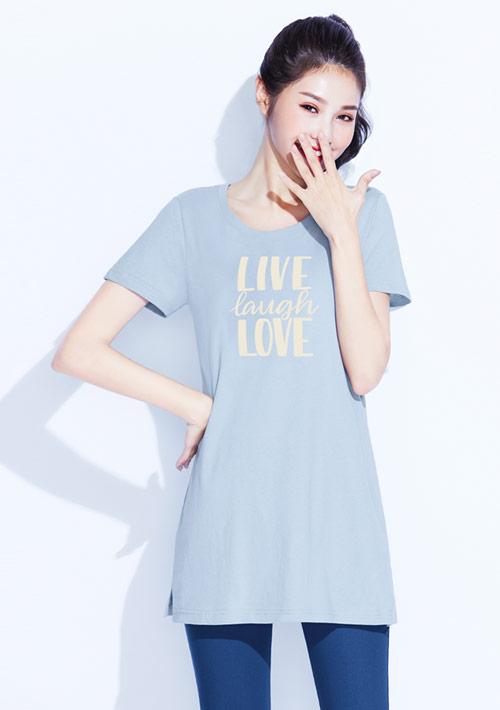 【限時$199】文字純棉長版印花T恤