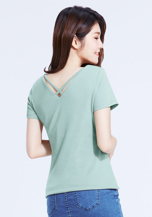 Combed 棉羅紋V領造型T恤