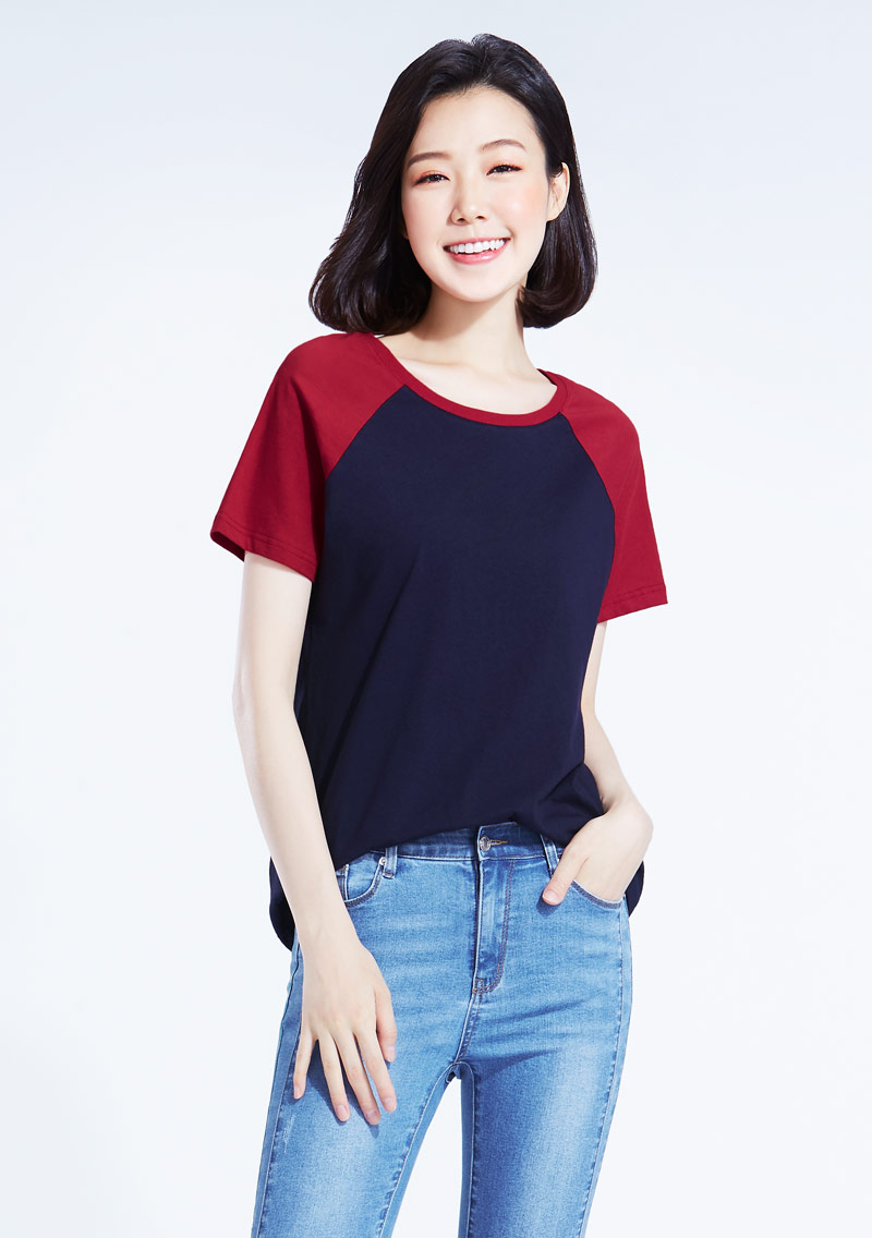 純棉配色T恤