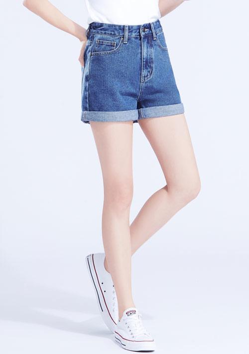 反折牛仔短褲