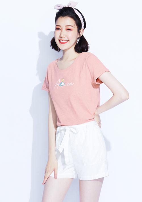 【限時$199】迪士尼愛麗絲系列竹節棉印花T恤-03