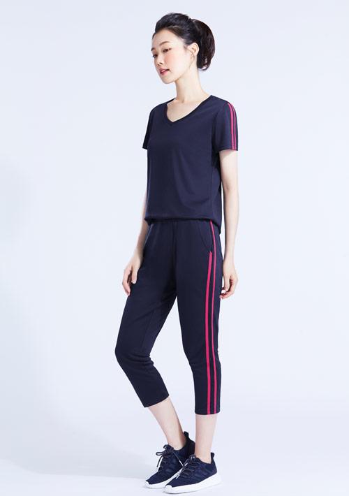 抗UV吸排運動七分褲套組