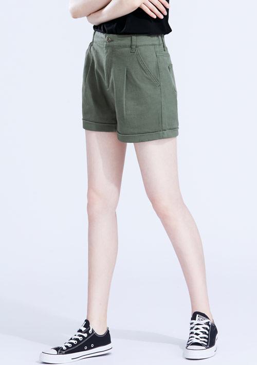 多色打摺短褲