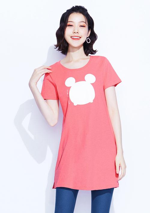 Tsum Tsum系列純棉長版印花T恤-02