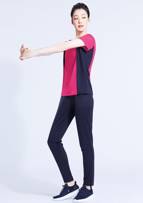 抗UV吸排配色運動長褲套組