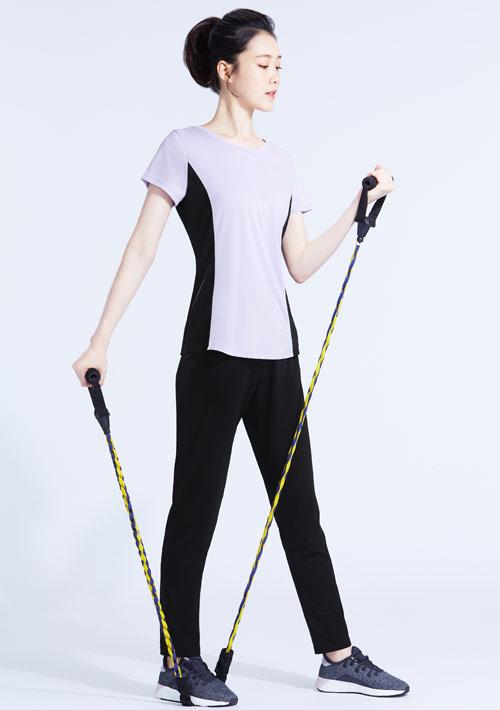 抗UV吸排配色運動長褲套裝