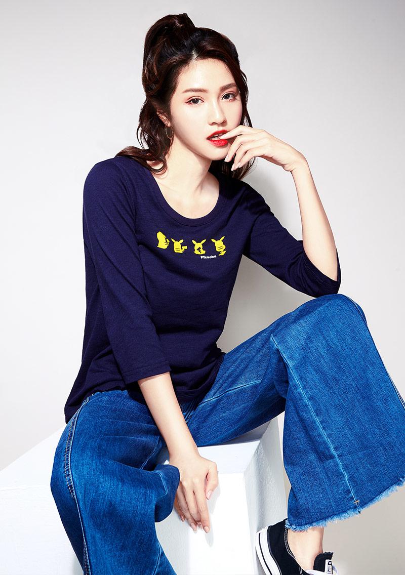 【限時$199】寶可夢系列竹節棉印花T恤-01